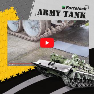 Akkor se tudna ártani a Fortelock padlólapoknak, ha tankkal hajtana végig rajtuk. Szó szerint!